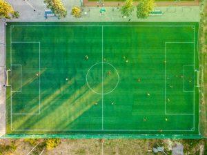 Fotbollsplan sedd ovanifrån